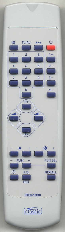 MATSUI 2060 Remote Control