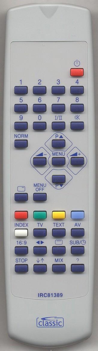 ORION TV-3700 Remote Control