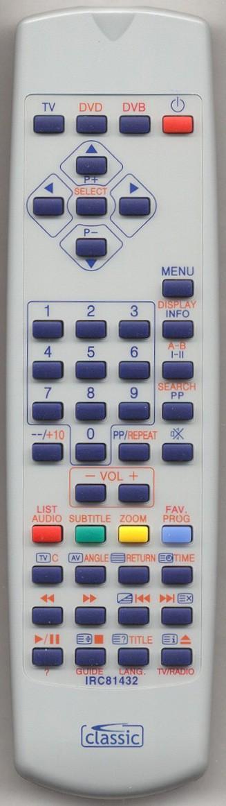 MATSUI TVDVD1410 Replacement Remote Control
