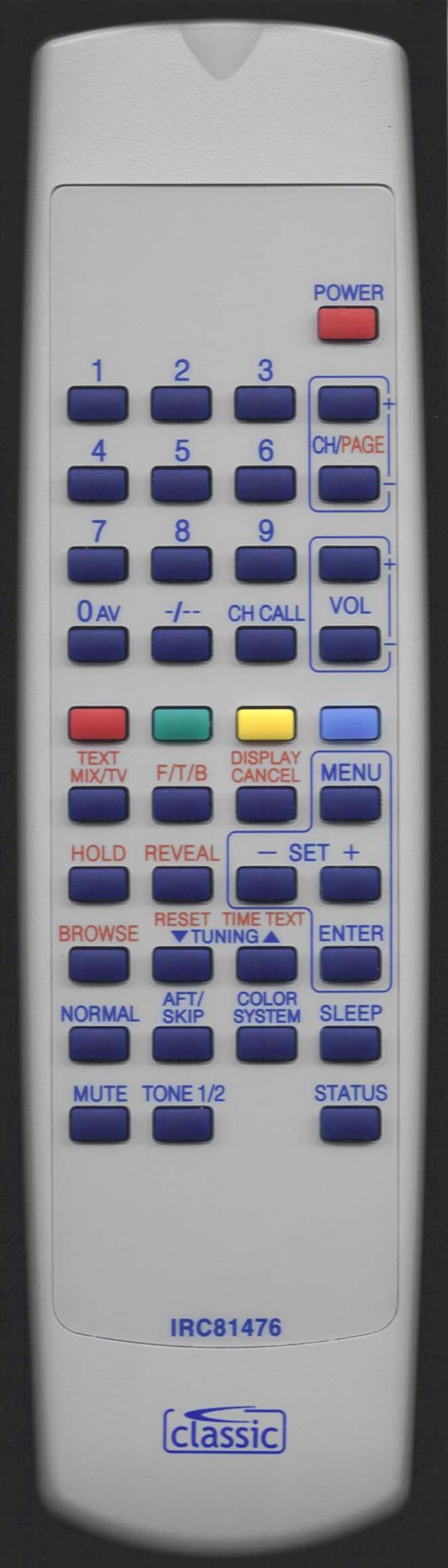 MATSUI 1407 S Remote Control