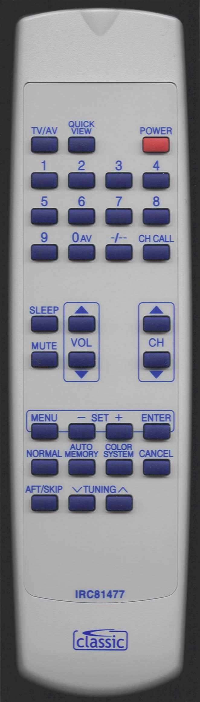 MATSUI 1408R Remote Control