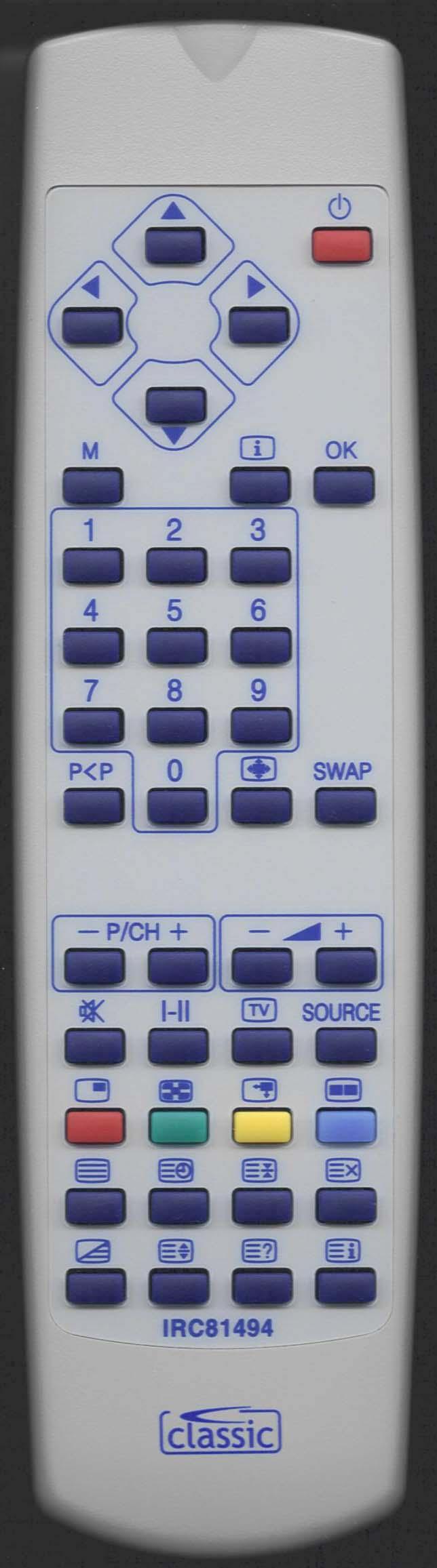 WHARFEDALE LCD26HD Remote Control