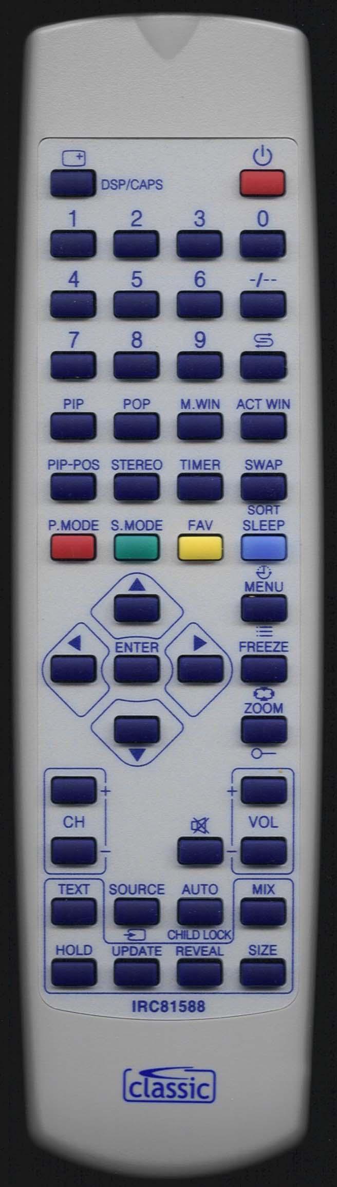 Baird HAL32V6A Remote Control