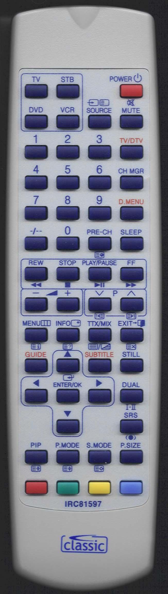SAMSUNG LE32R73BD Remote Control Alternative