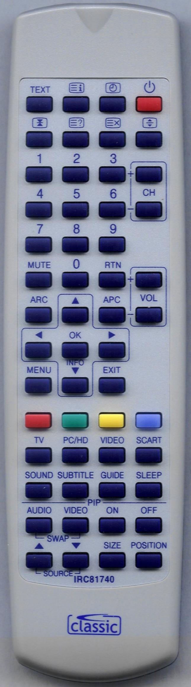POLAROID TLU04223B Remote Control Alternative