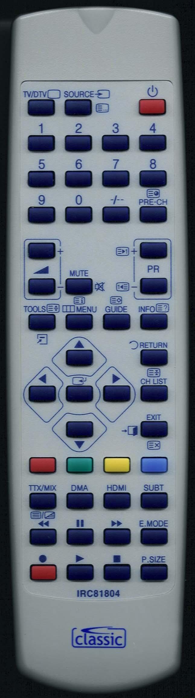 SAMSUNG LE32A457CID Remote Control Alternative