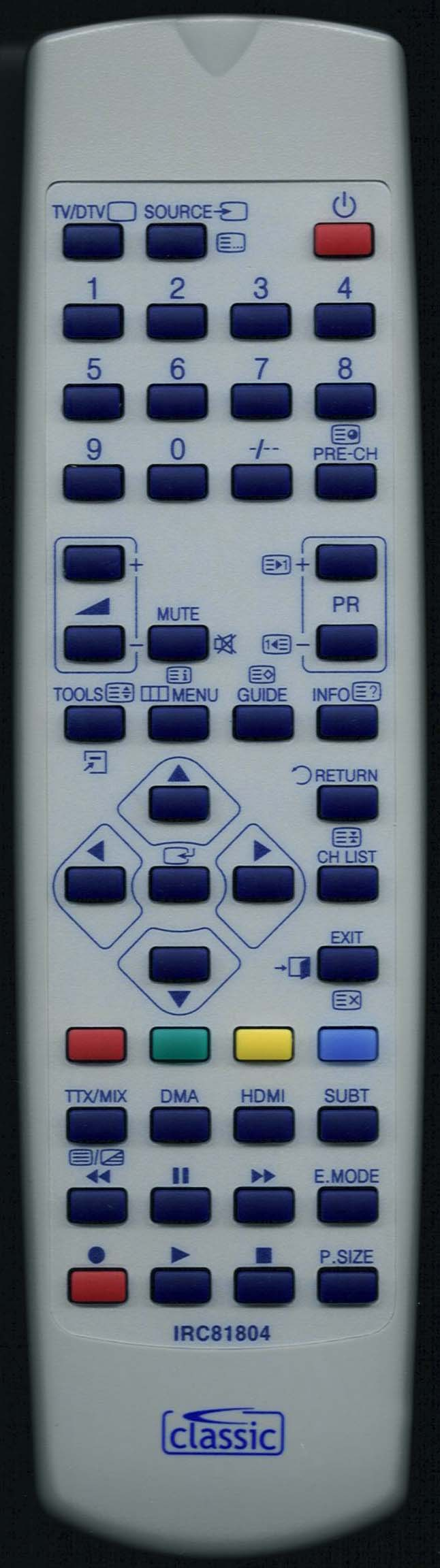 SAMSUNG LE26A457C1D Remote Control Alternative