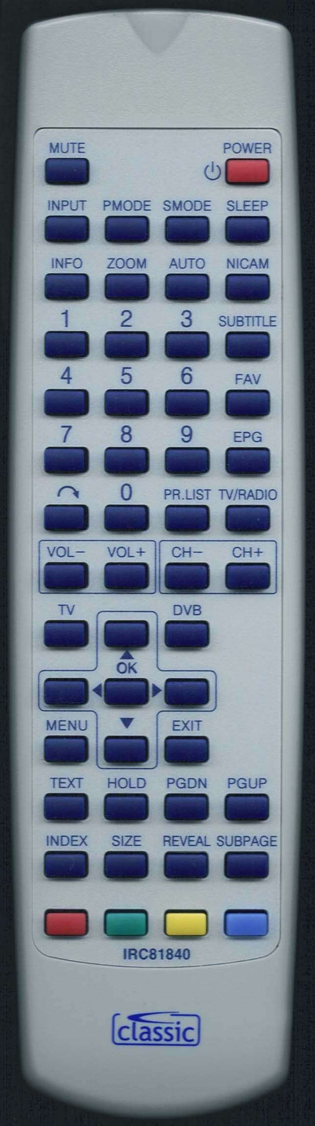Baird OR42BAFHD Remote Control