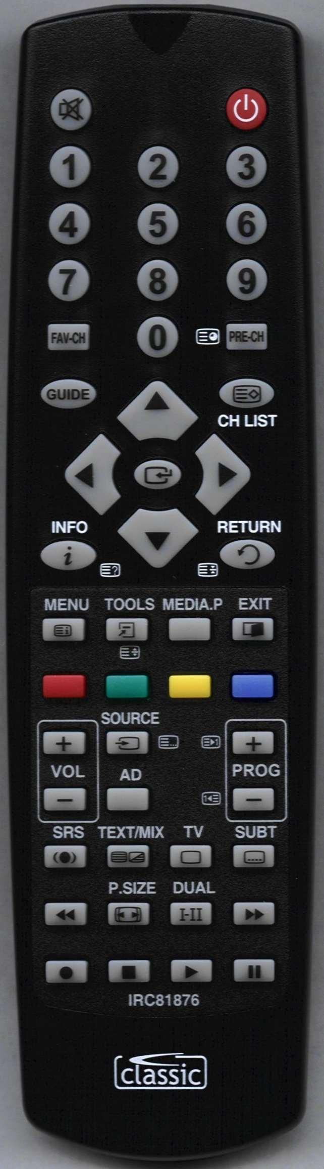 SAMSUNG PS50B450B1W/XXU Remote Control
