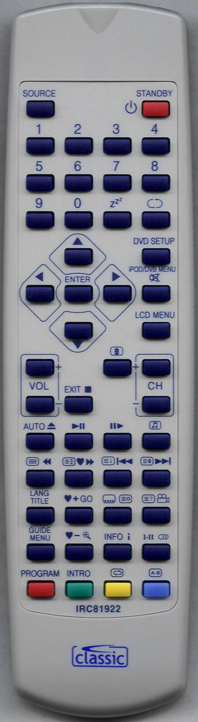 PROLINE LVD1986WDW Replacement Remote Control