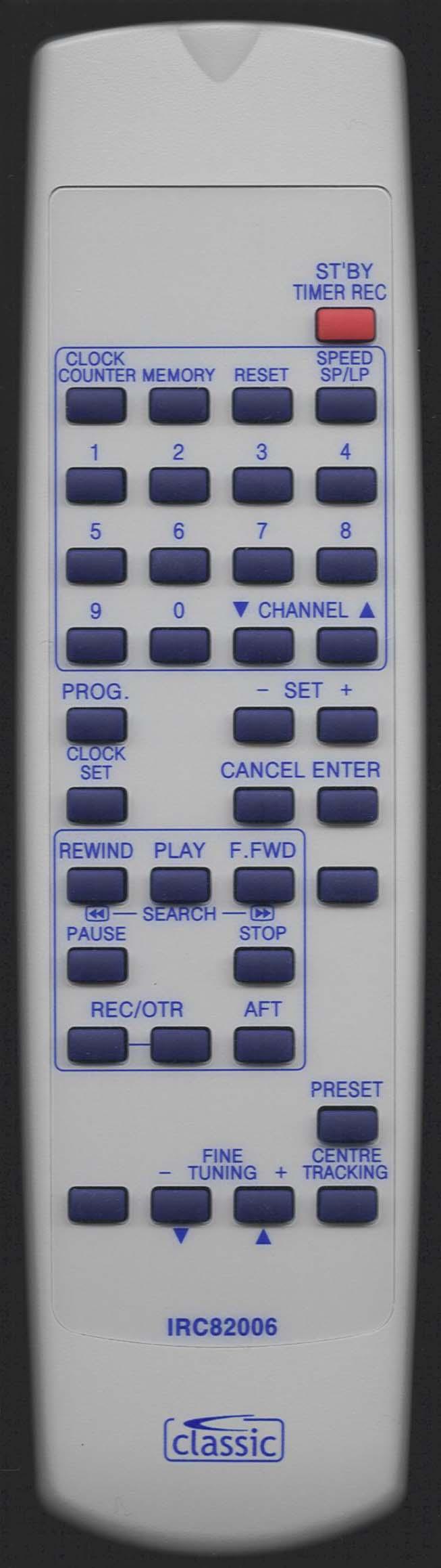 MATSUI VX-2000 Y Remote Control