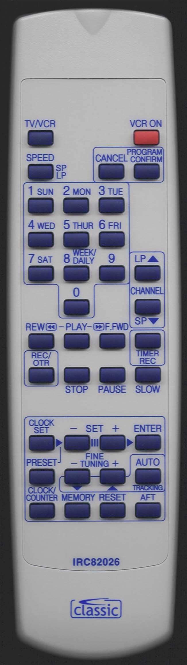 MATSUI 076100F150 Remote Control