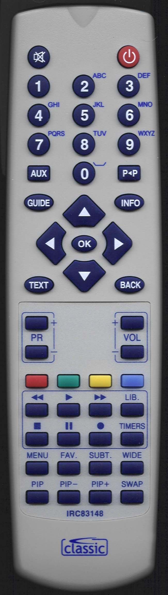 AKURA AVPVR1010 Remote Control Alternative