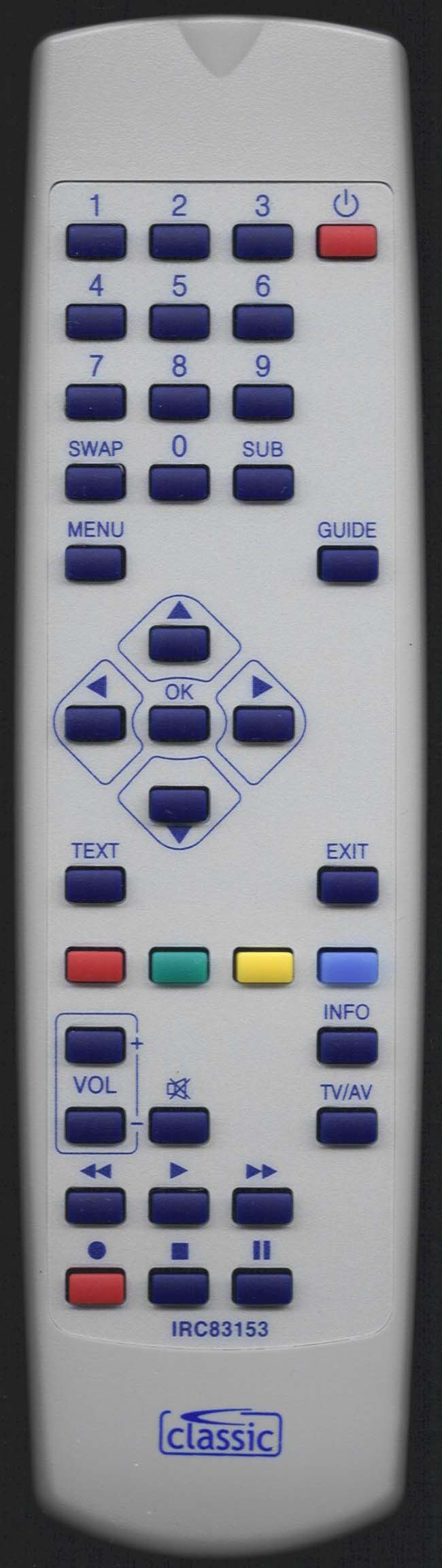 MATSUI M 1602PVR Replacement Remote Control