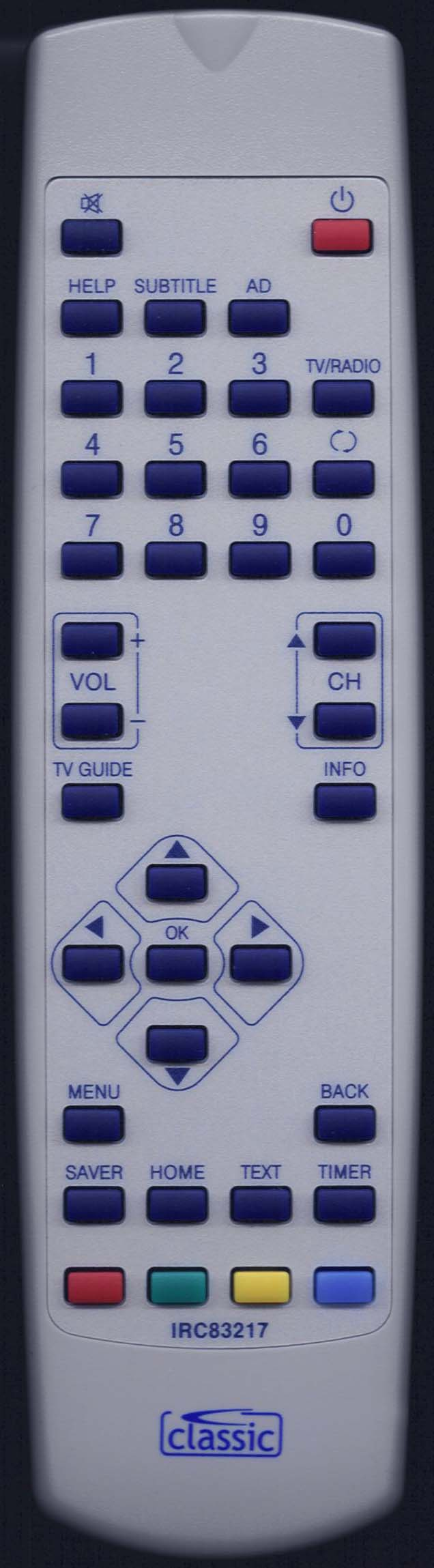 TVONICS MDR240 Replacement Remote Control