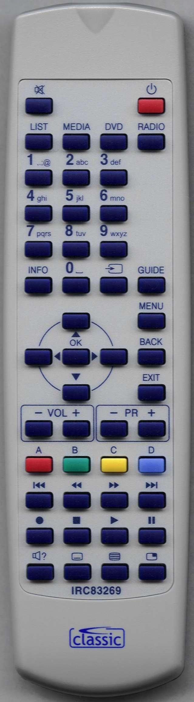 SAGEMCOM DTR94320SHD Replacement Remote Control