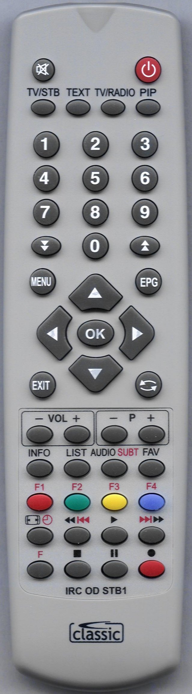 LOGISAT RG405 DS4 Remote Control