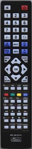 LUXOR LUX16914TVB Remote Control Alternative
