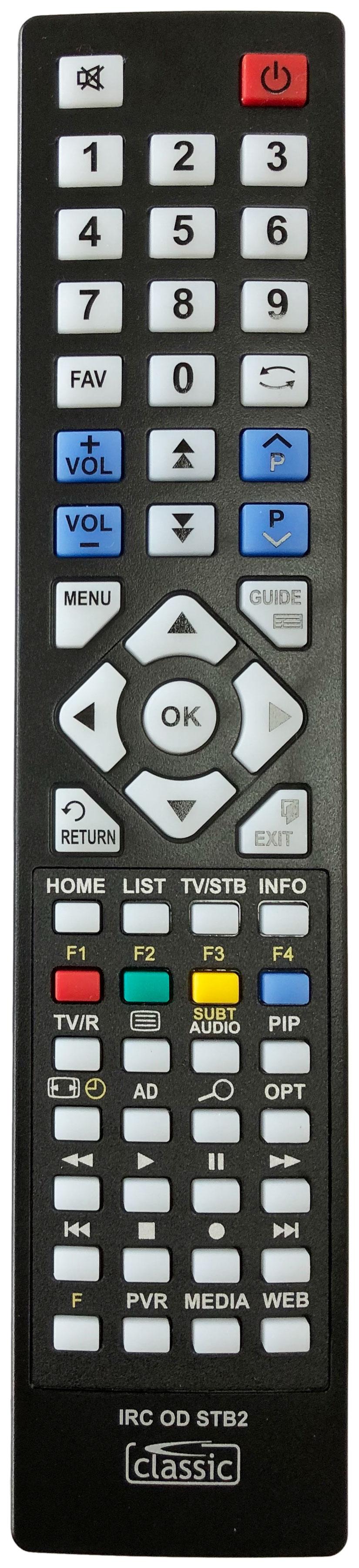 LUXOR LUX-TUTV-500GB Remote Control Alternative