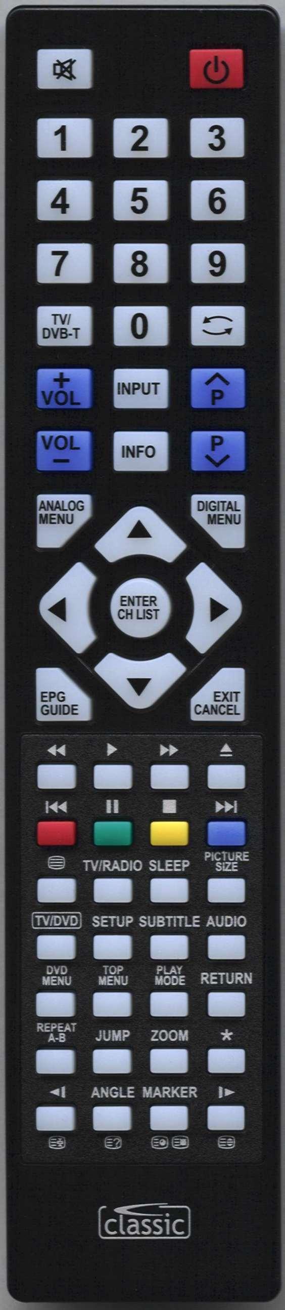 ORION TV19PL145DVD Remote Control