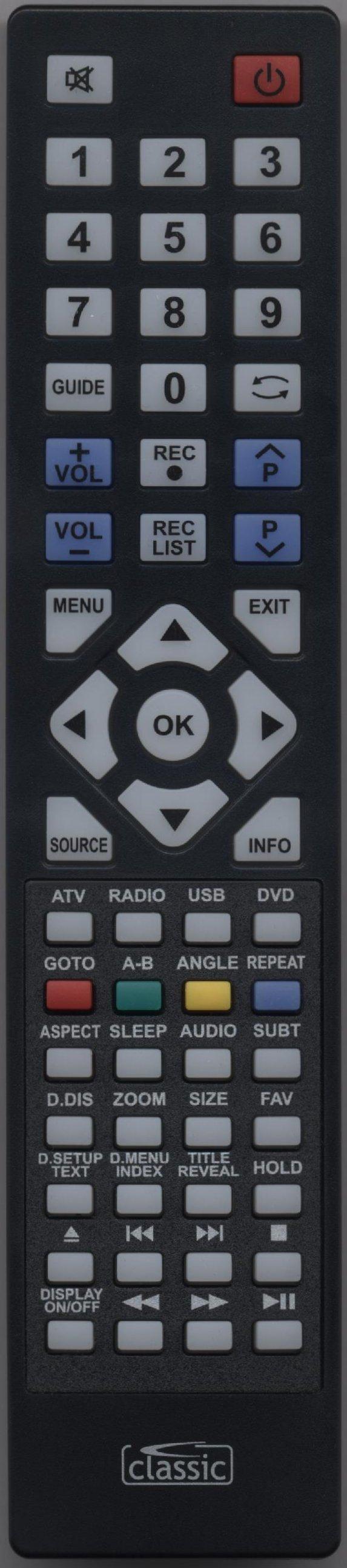 BLAUPUNKT 215/54G-GB-1B-FTCDU-UK  Remote Control