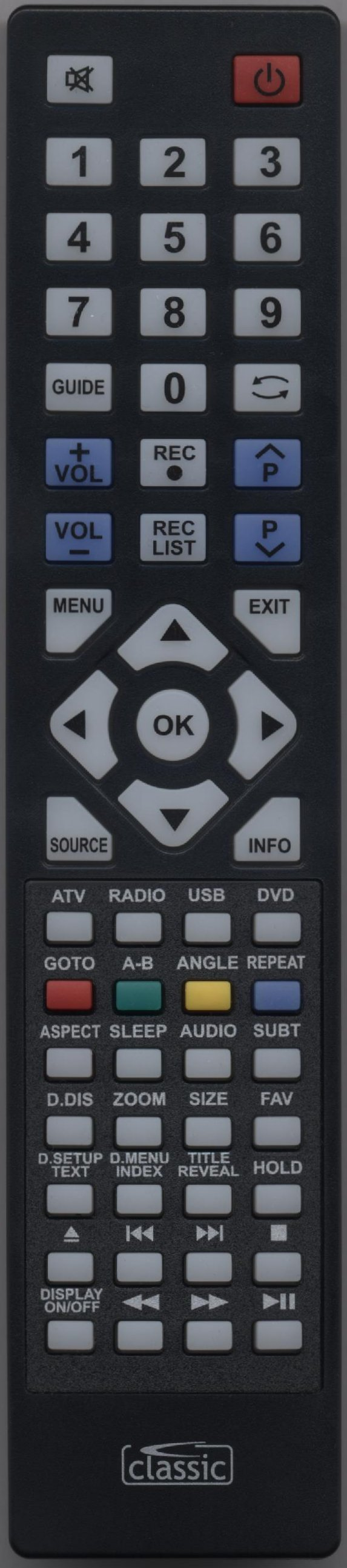 Blaupunkt 216-54G-GB-TCDUP-UK Remote Control Alternative