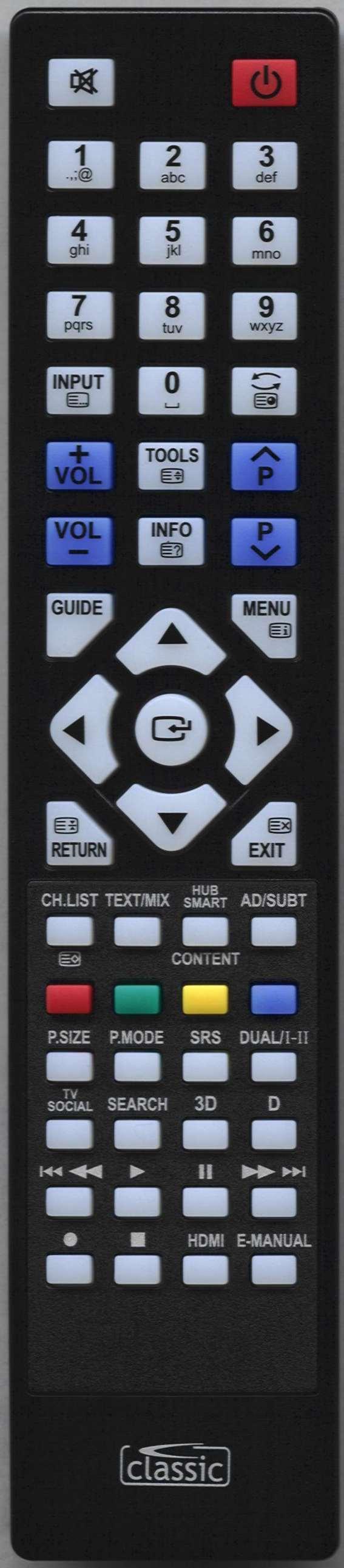 SAMSUNG PS43E450A1W Remote Control Alternative