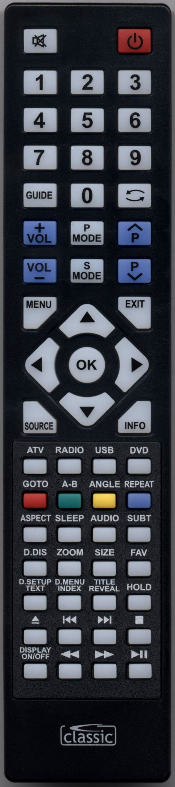 BLAUPUNKT B185A54TD Remote Control
