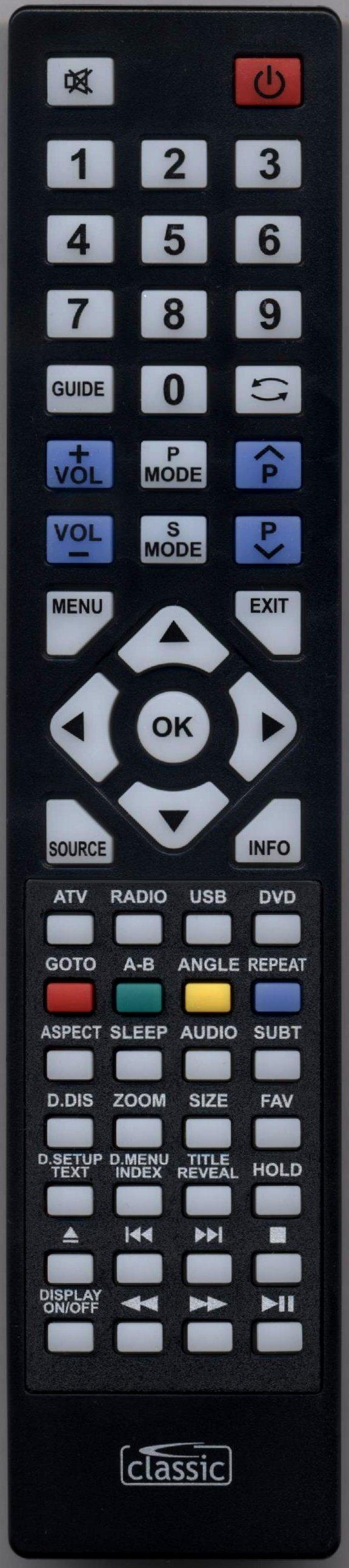 TECHNIKA 19-248COM Remote Control