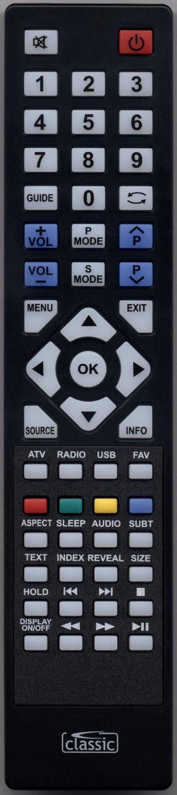 BLAUPUNKT 32/131G-GB-1B-3TCU-UK Remote Control Alternative