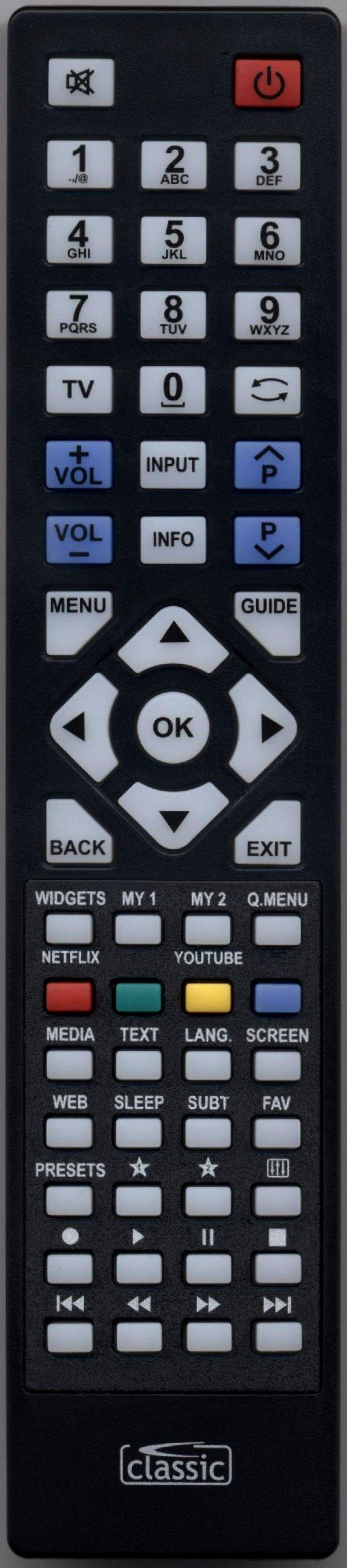 LUXOR LUX0142001/01 Remote Control Alternative