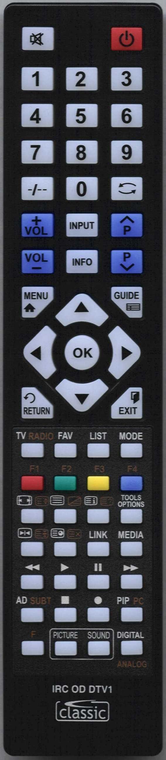 BLAUPUNKT 49/138M-GB-11B4-FEGPX-UK Remote Control