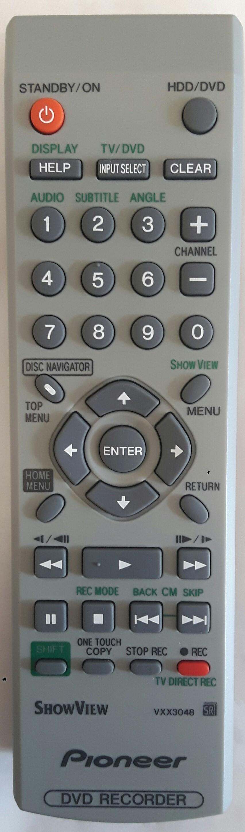 PIONEER DVR-433H Remote Control Original
