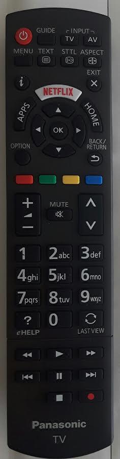 PANASONIC TX49DSW504 Remote Control Original